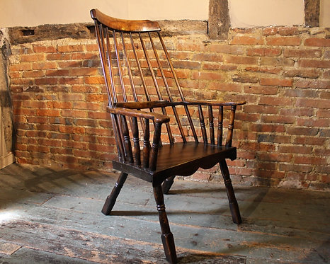 Early 19th century stickback chair