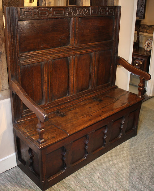 17th century silhouette settle