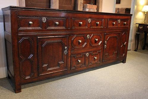 17th century oak dresser base