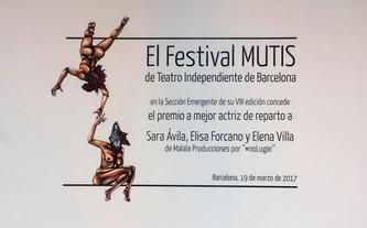#noLUGAR gana tres premios en el festival MUTIS de Barcelona