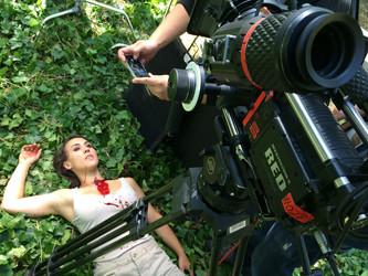 Rodando el corto PicniK del director Enrico Farina