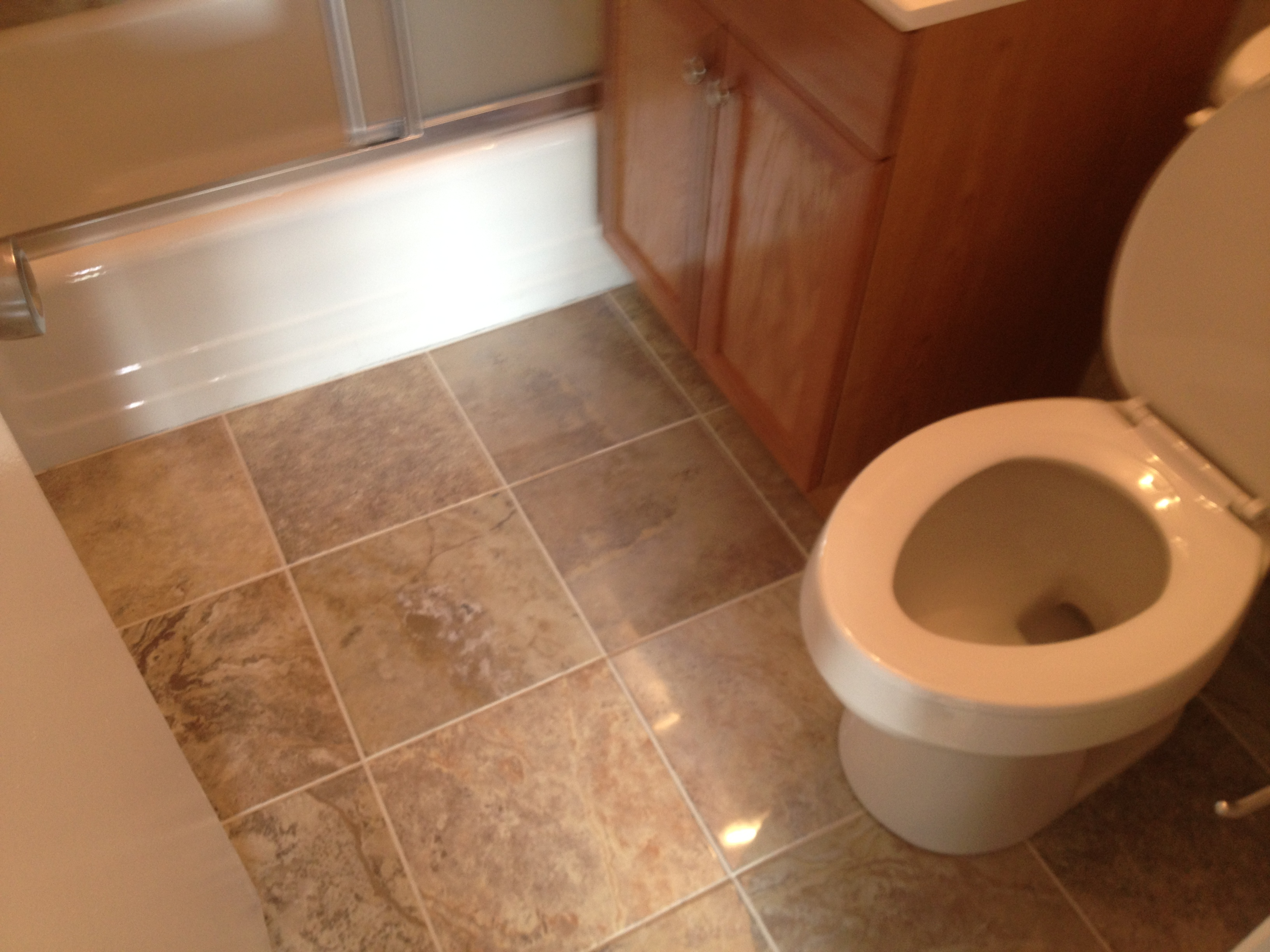 Bathroom Floor Installation