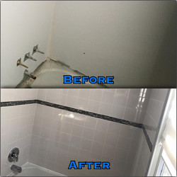 Bathroom wall and shower body