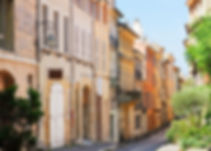 Aix en Provence old town street, Provenc