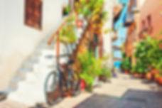 Beautiful street in Chania, Crete island