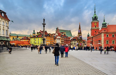 Central part of Warsaw, capital of Polan