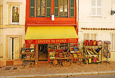 French Village shop in the South of Fran