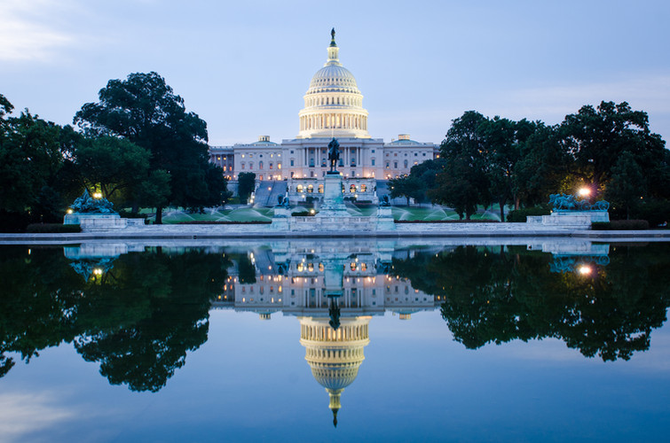Washington DC, US Capitol Building in a