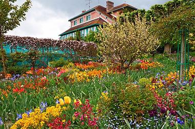 Monet`s garden at spring, Giverny, Franc
