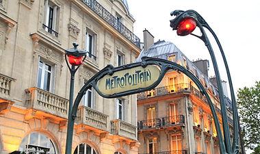 Metropolitain sighn in Paris, France