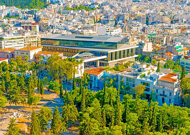 Aerial view of the new Acropolis meuseum