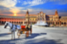 Landmarks of Spain - piazza Espana in Se