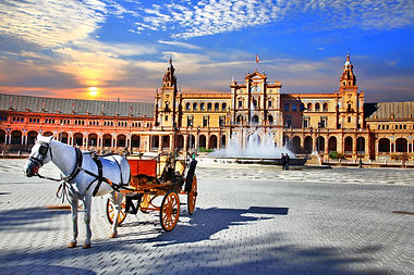 Landmarks of Spain - piazza Espana in Se