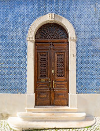 Lisbon - Portugal, facade of a house cov