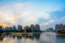 Cityscape of Tianjin ferris wheel,Tianji
