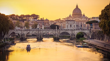 The dome of Saint Peters Basilica and Va