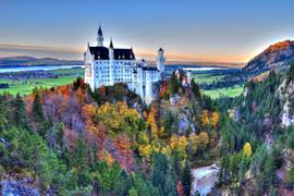 Castle Of Neuschwanstein Near Munich In