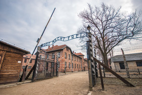 Entrance gate to Auschwitz concentration