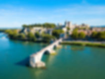 Pont Saint Benezet bridge and Rhone rive