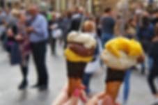 The famous Italian ice cream gelato agai