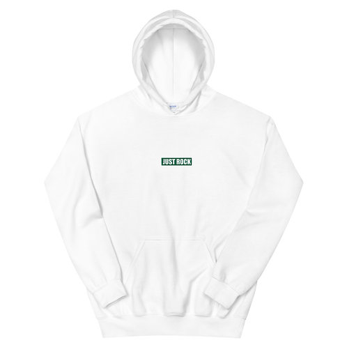 Green embroidered JUST ROCK Hoodie