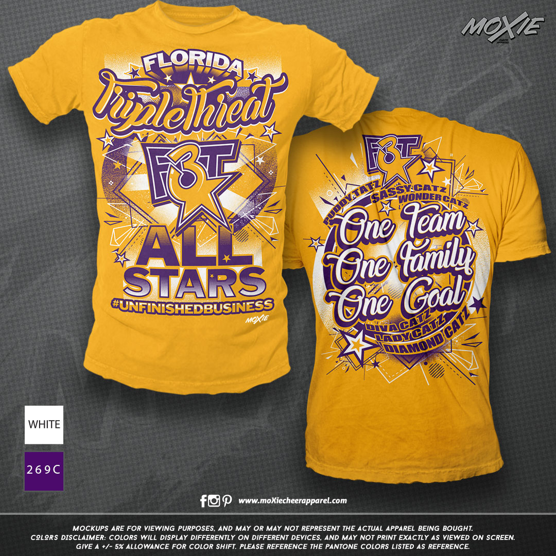 Triple Threat TSHIRT-moXIe cheer apparel