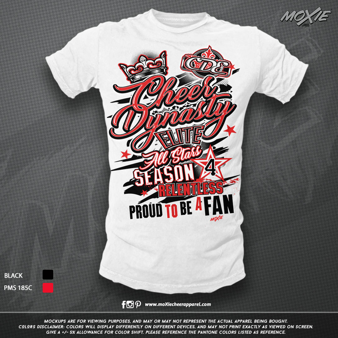 CDE Fan Supporter TSHIRT-moXie cheer app