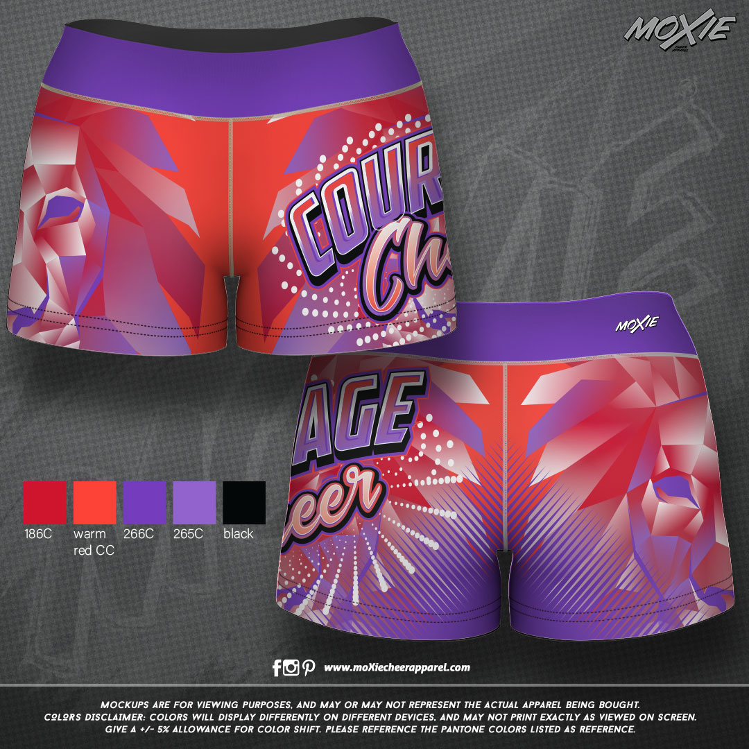 Courage-Cheer-SHORTS-moXie PROOF