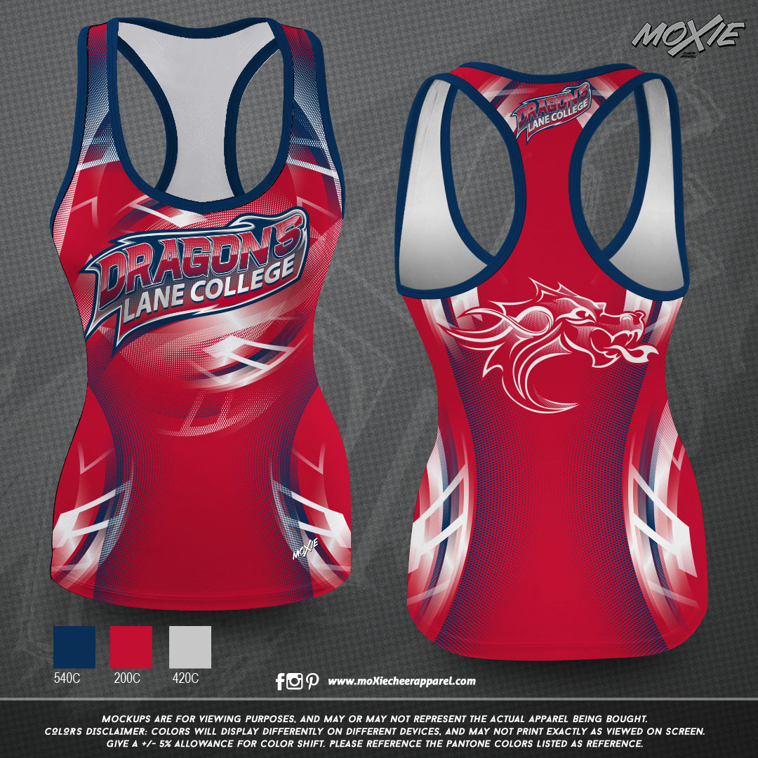 Lane-College-TANK TOP-RED-moXie PROOF