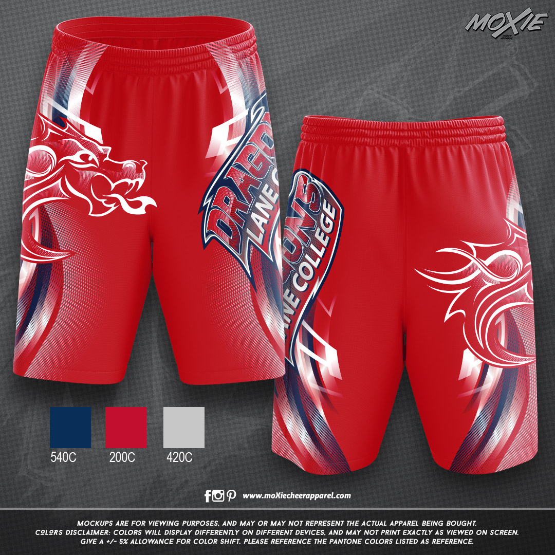 Lane-College-MENS SHORTS-RED-moXie PROOF