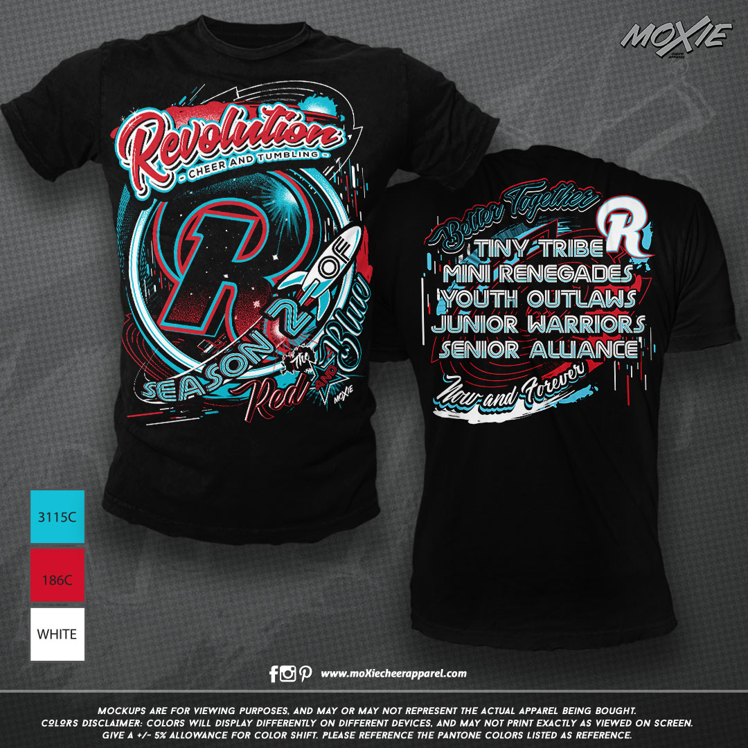Revolution Cheer TSHIRT-moXie cheer appa