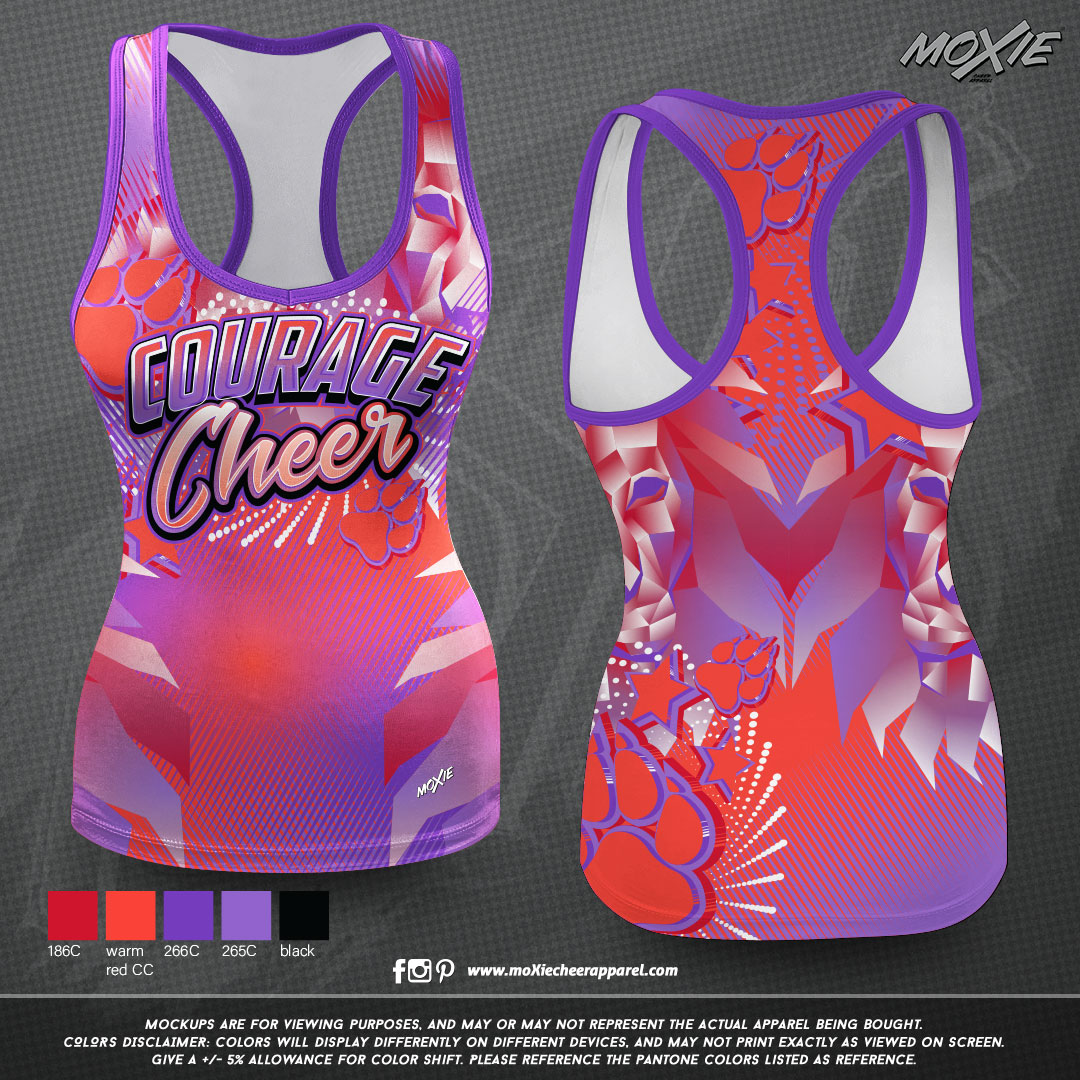 Courage-Cheer-TANK TOP-moXie PROOF