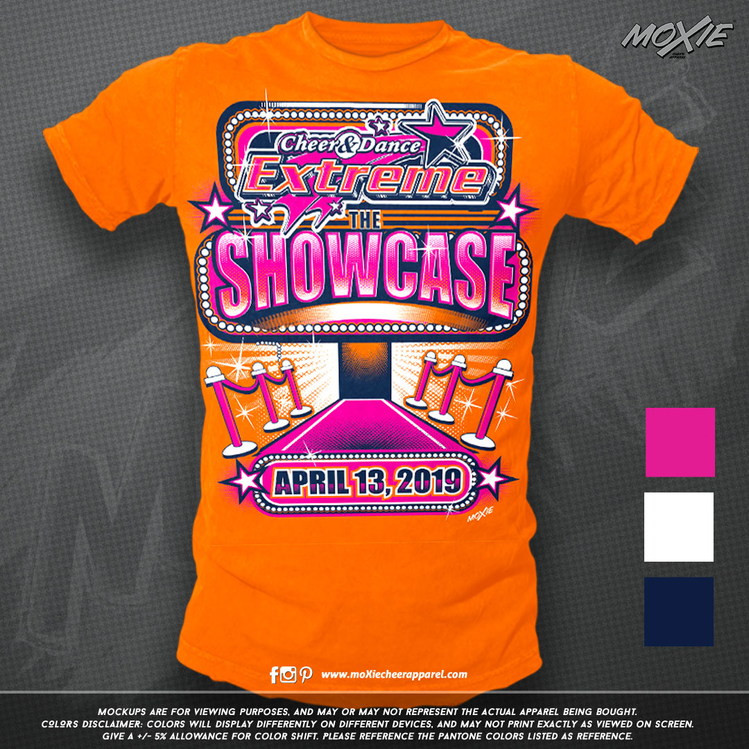 CDE-THE SHOWCASE TSHIRT-moXie PROOF