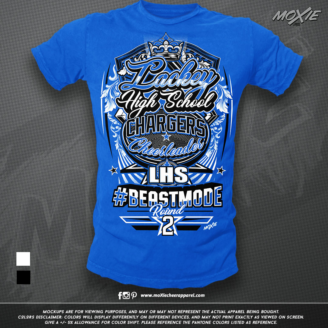 Lackey High School Cheer TSHIRT-moXie PR