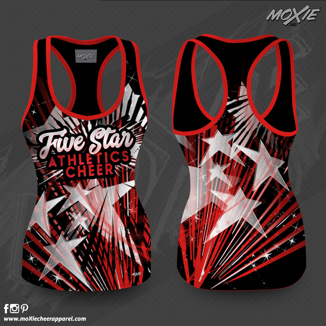 5 STAR TANK TOP-MOXIE CHEER APPAREL PROO