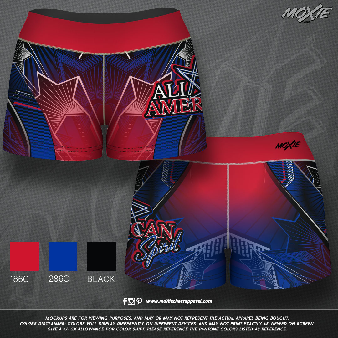 All-American-Spirit-GIRLS SHORTS-moXie P