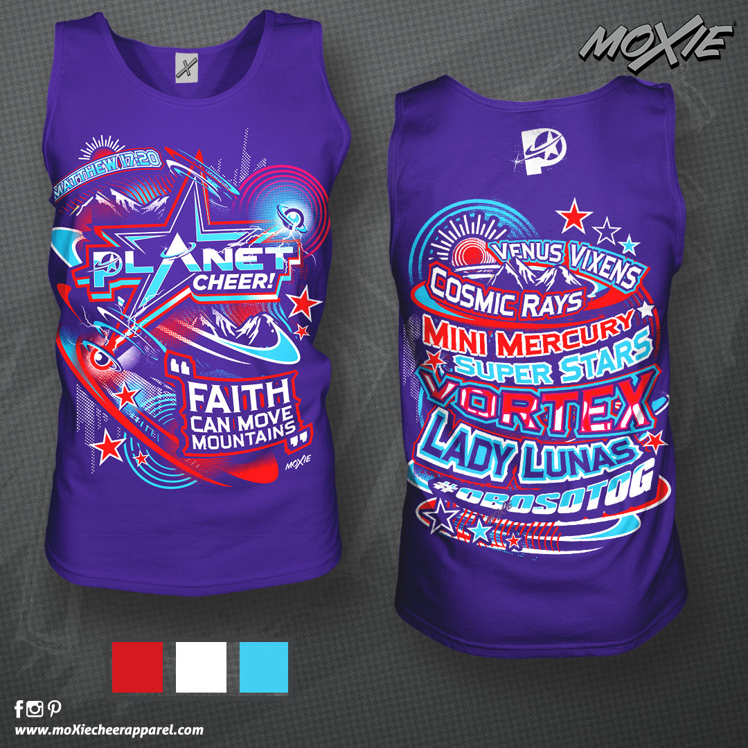Planet Cheer TANK TOP-moXie PROOF