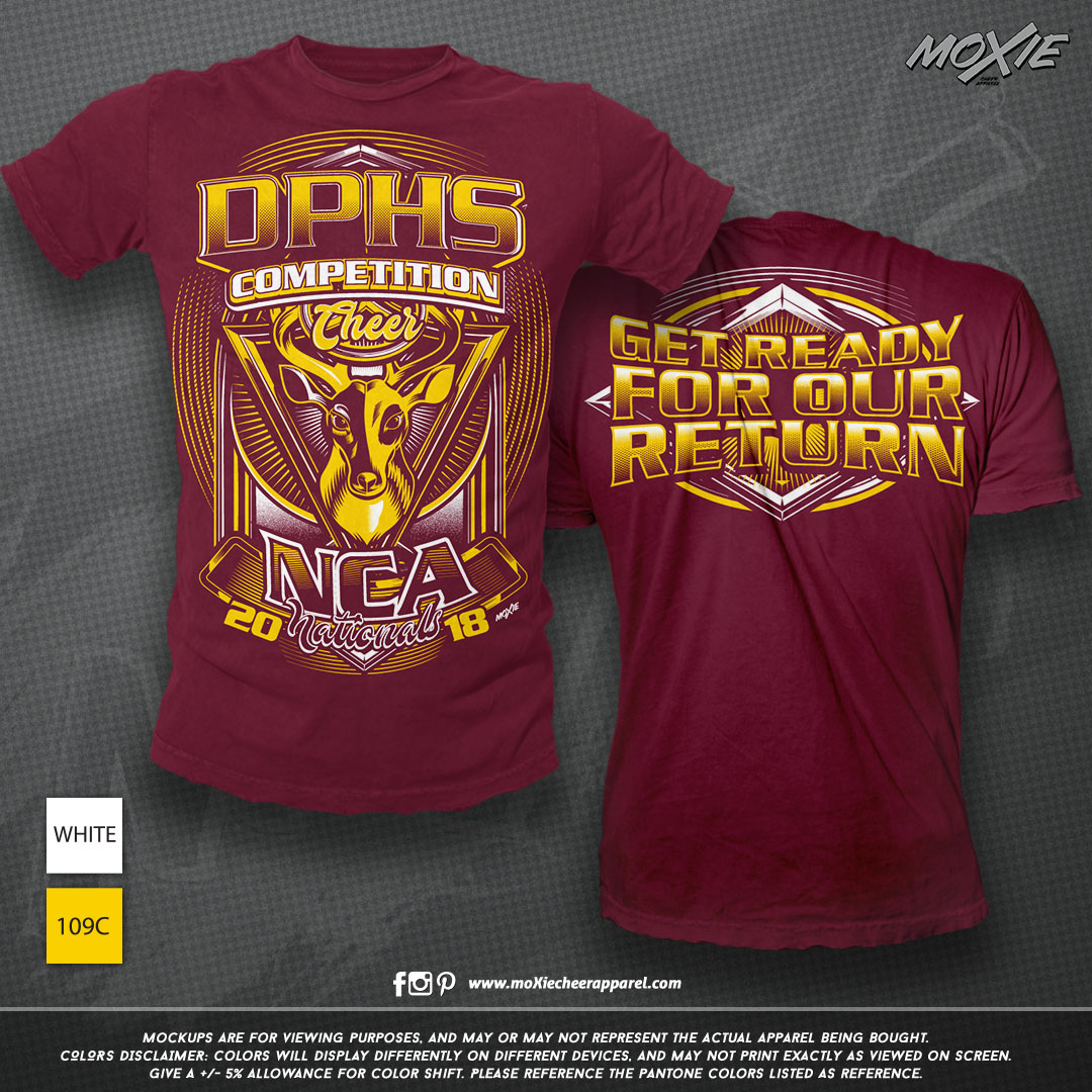 DPHS CHEER TSHIRT-moXie cheer apparel PR