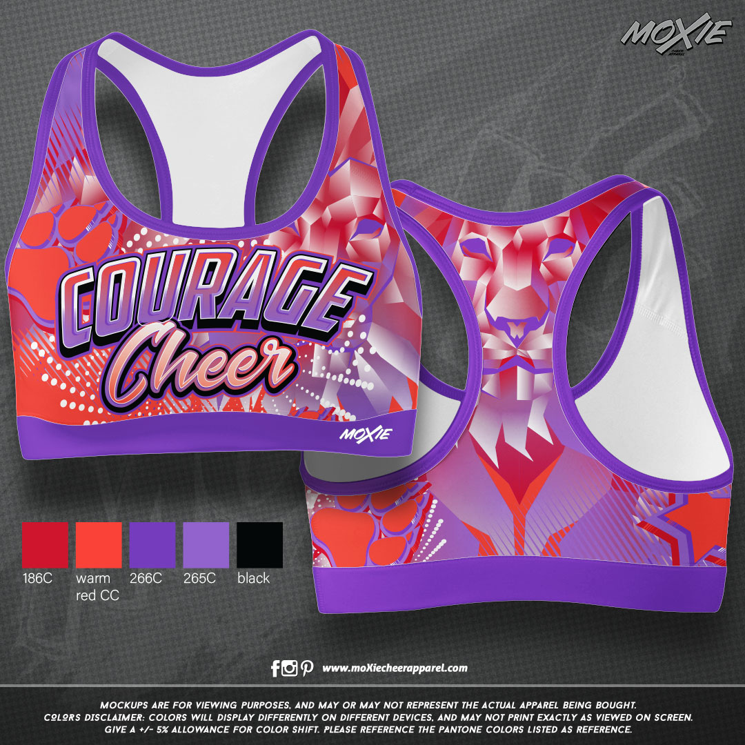 Courage-Cheer-SPORT BRA-moXie PROOF