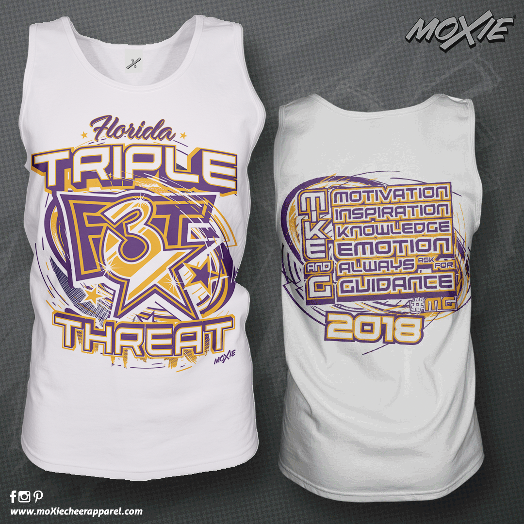 Triple Threat Cheer TANK TOP-moXie PROOF