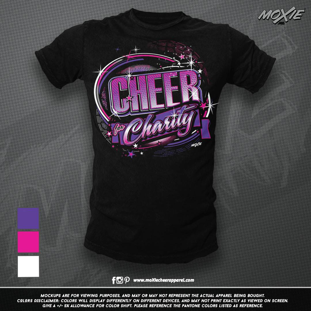 Cheer 4 Charity TSHIRT 18-moXie PROOF