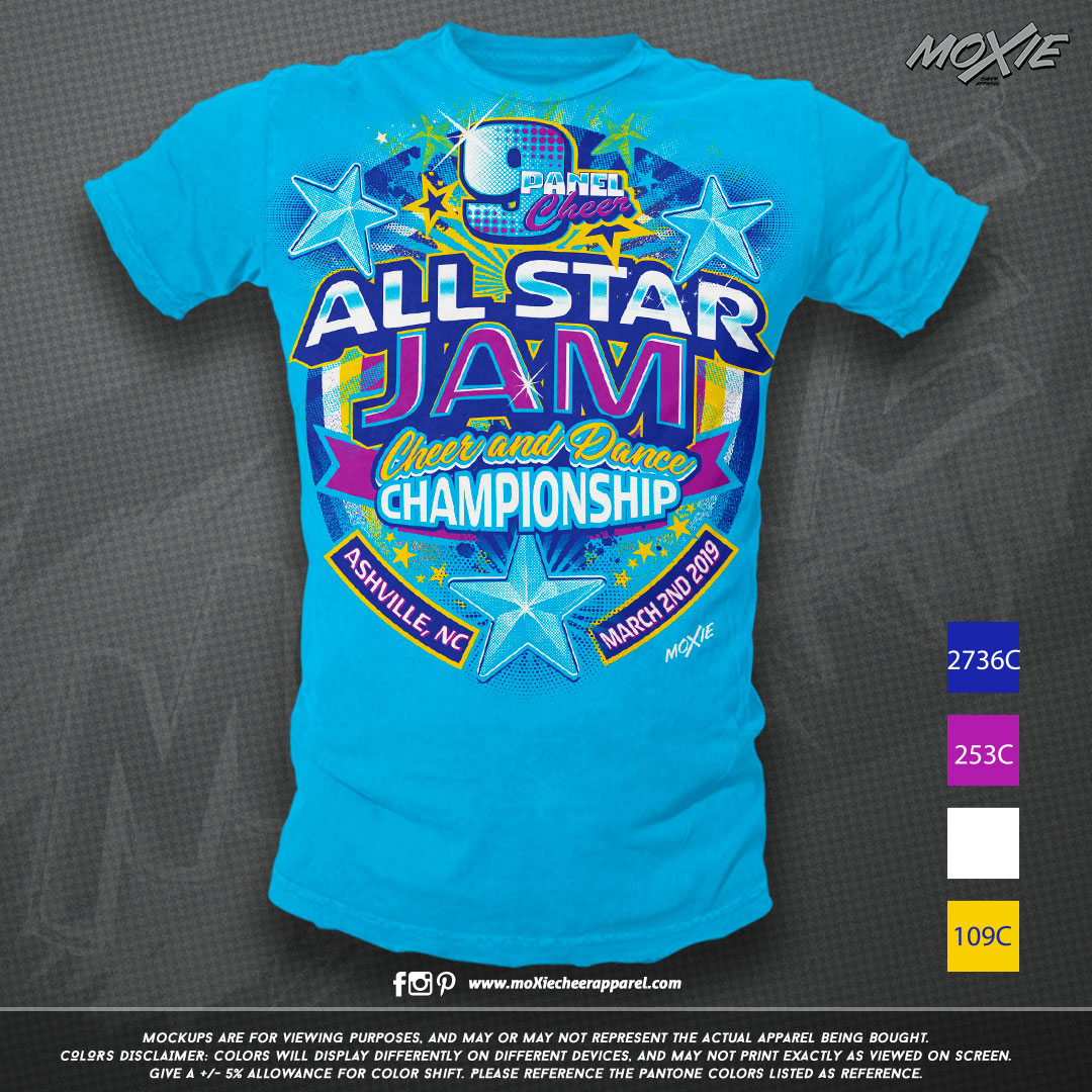 9 Panel All Star Jam TSHIRT-moXie PROOF.