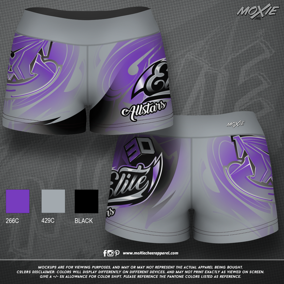 3D Elite-SHORTS-moXie PROOF-gray