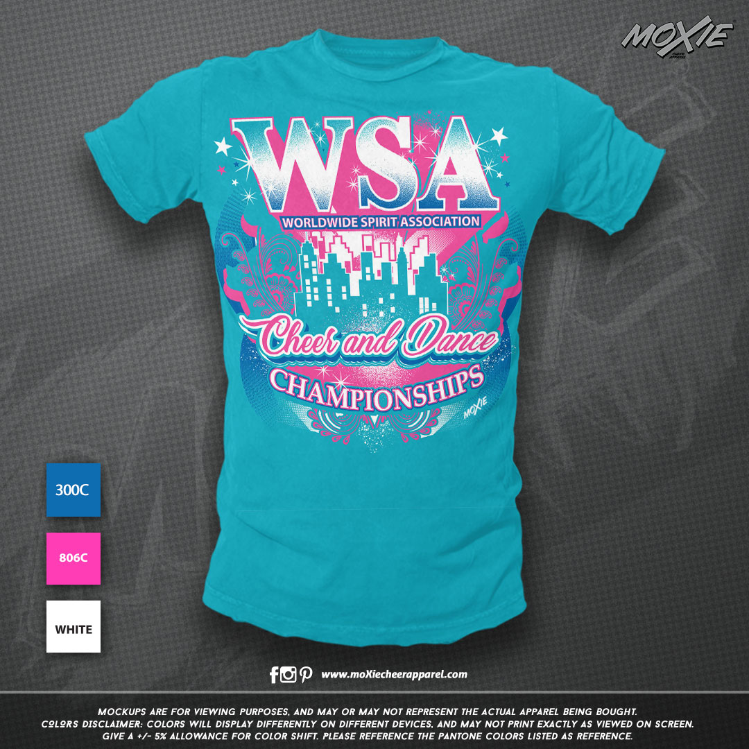 WSA TSHIRT-moXie cheer apparel PROOF