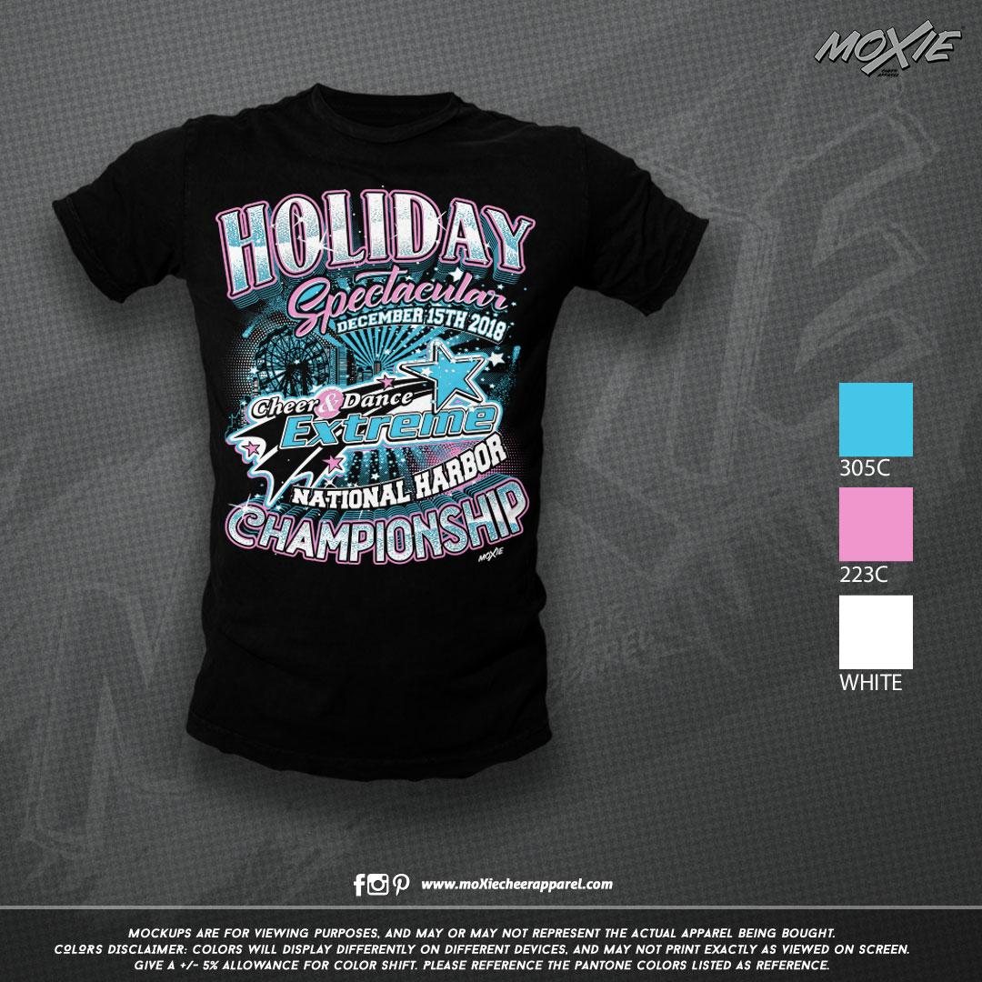 CDE Holiday Spectacular TSHIRT-moXie PRO