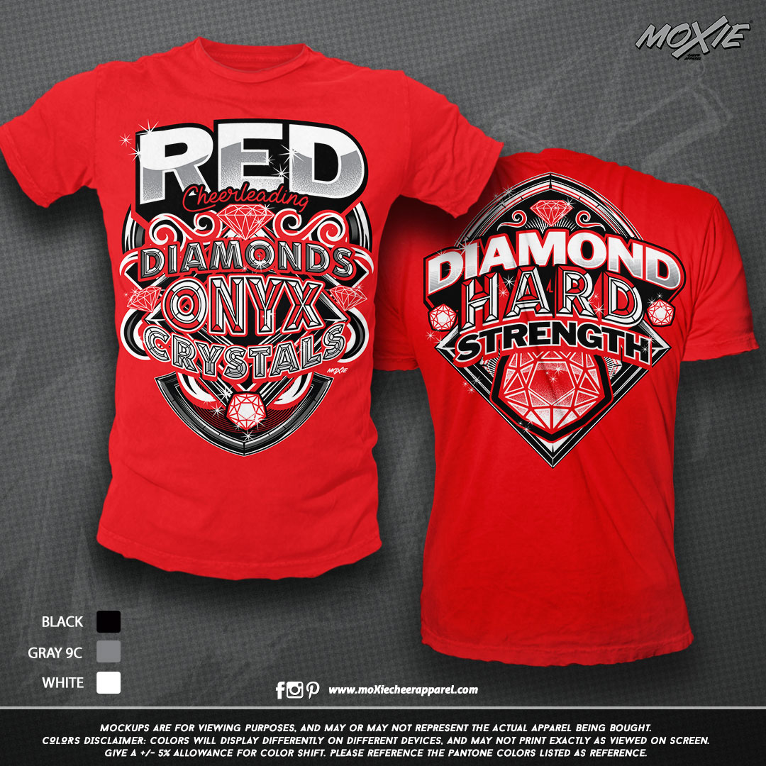 Raleigh Elite RED TSHIRT-moXie cheer app