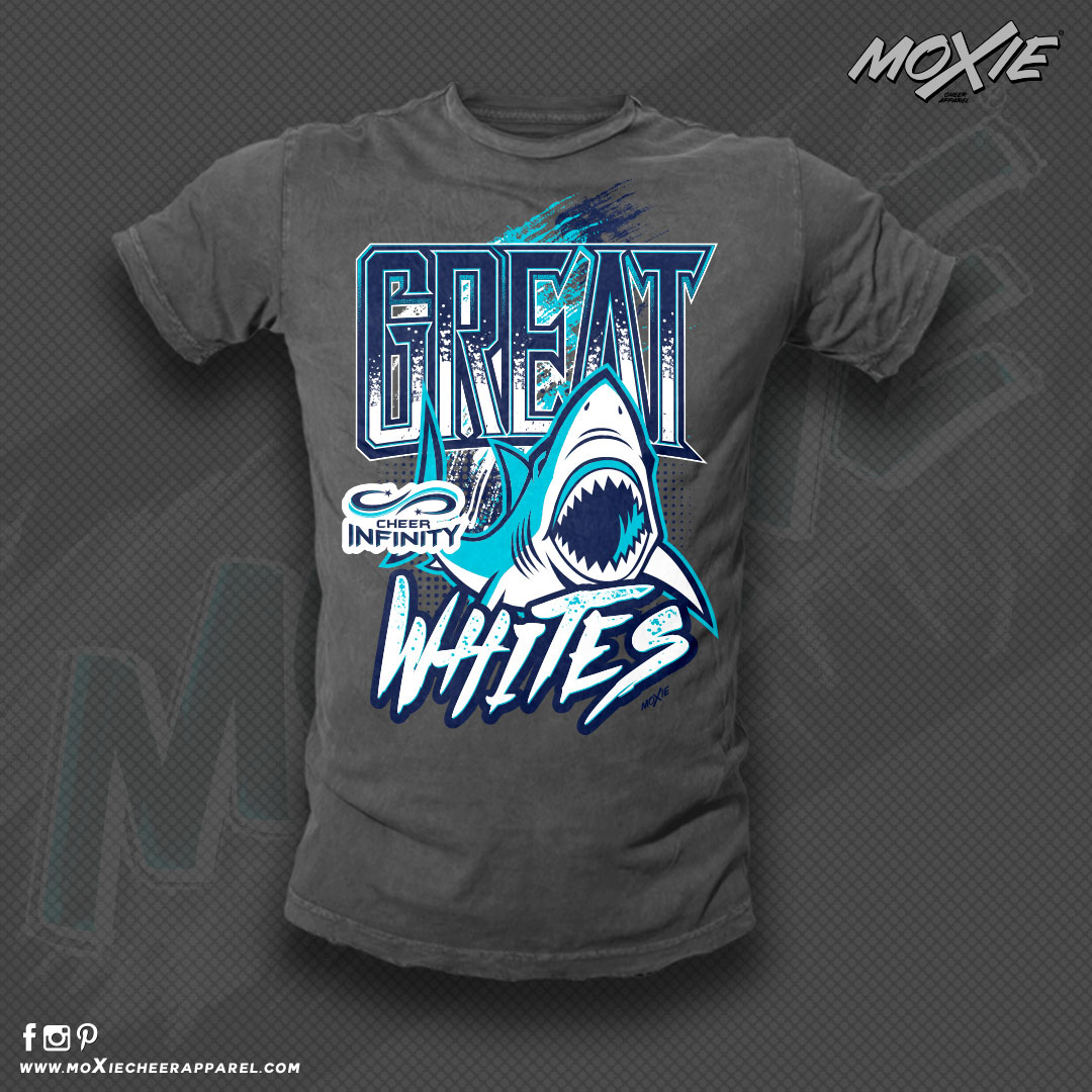 GREAT WHITES 2017 TSHIRT-MOXIE CHEER APP