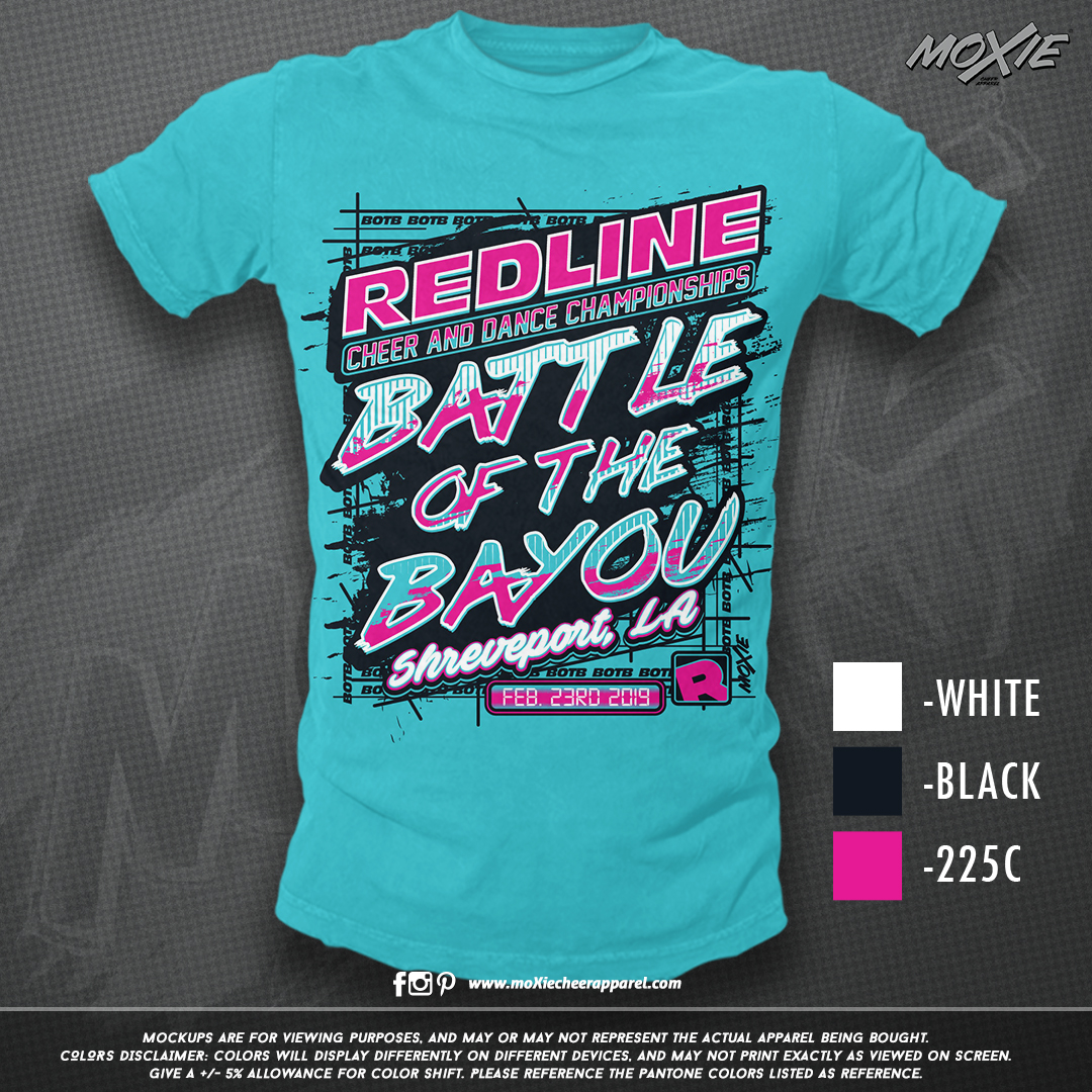 Redline-Battle Bayou TSHIRT-moXie PROOF.