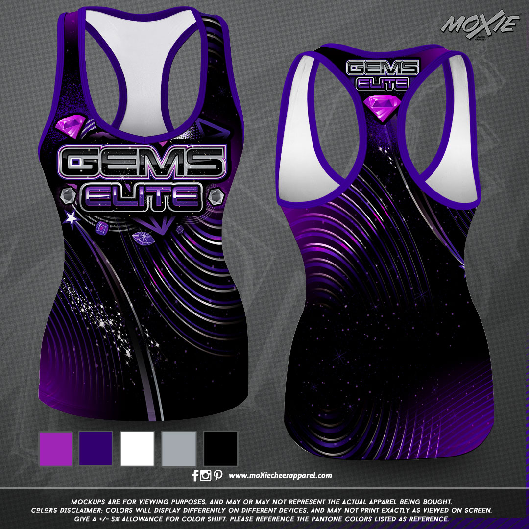 Gems Elite Cheer-TANK TOP-moXie PROOF