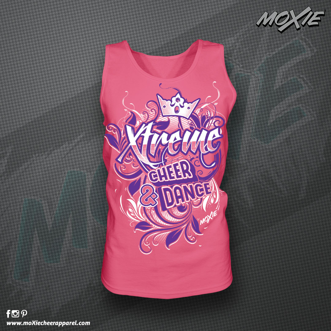 Xtreme C&D LAT PINK TANK TOP-moXie Cheer